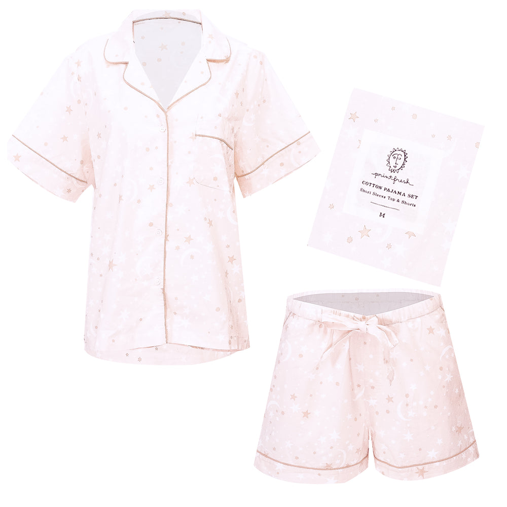 Celestial Skies Short Sleep Set in Blush