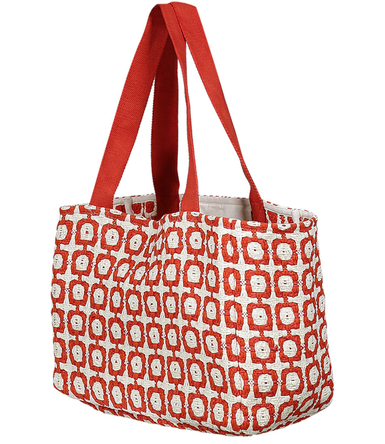 Red Tote Beach Bag