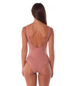 Rhythm Sunchaser Lace Up One Piece Rosewood