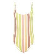 Pastel One Piece Swimsuit in Rainbow