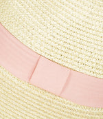 ladies panama hat pink band