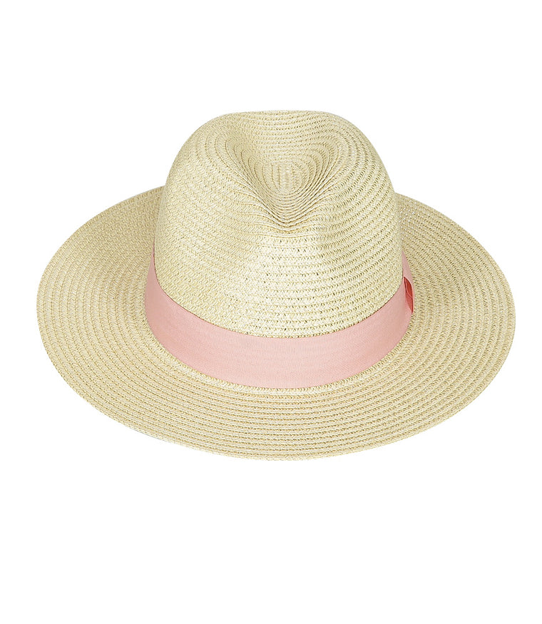 SD Select Ladies Panama Hat with Pink Band