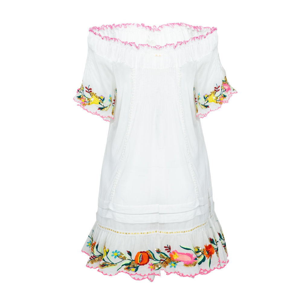 Lana Embroidered Dress Multi
