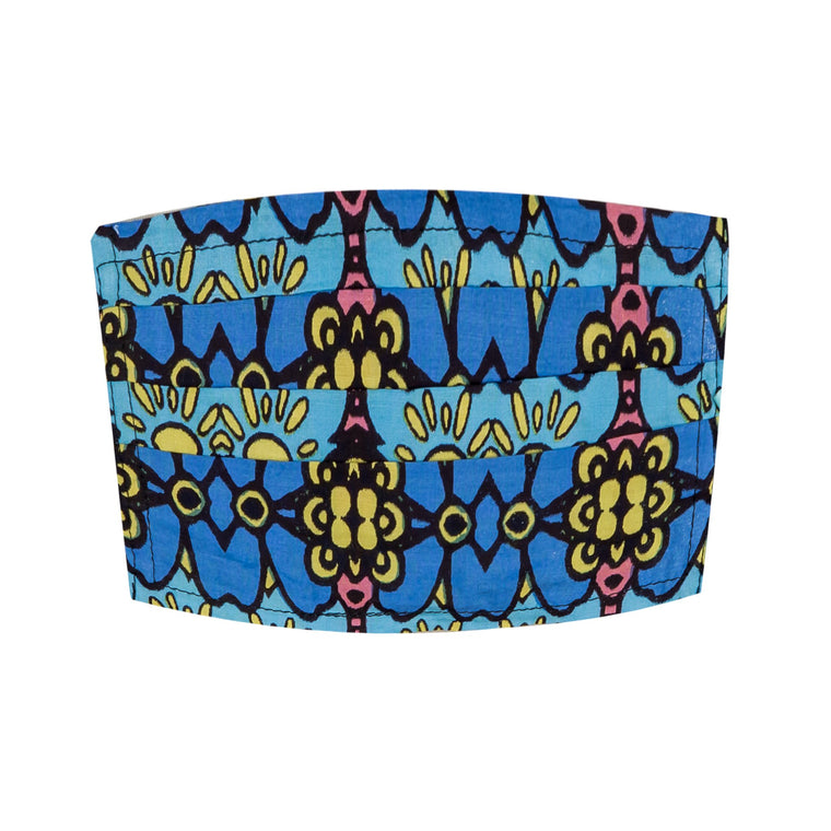 Face Mask Adult Blue And Yellow