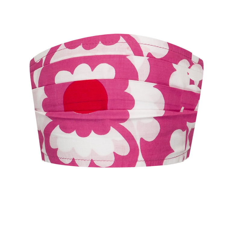 Face Mask Adult Floral Pink And White
