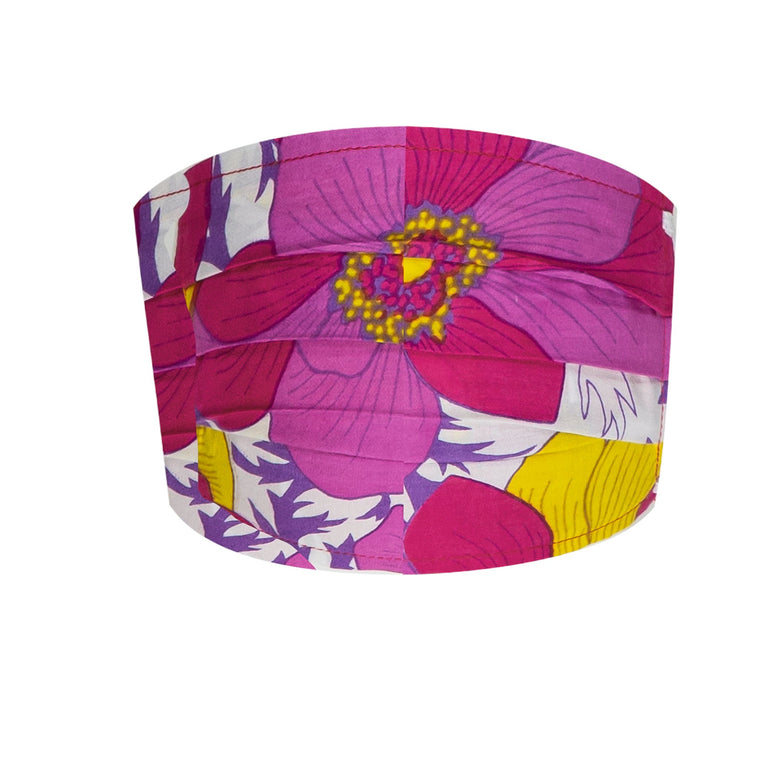 Face Mask Adult Floral Pink And Yellow