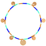 Gypsy Style Blue Amber Bracelet | Sand Dollar UK