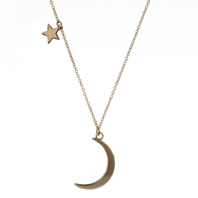 Luv & Bart Luna Necklace Gold