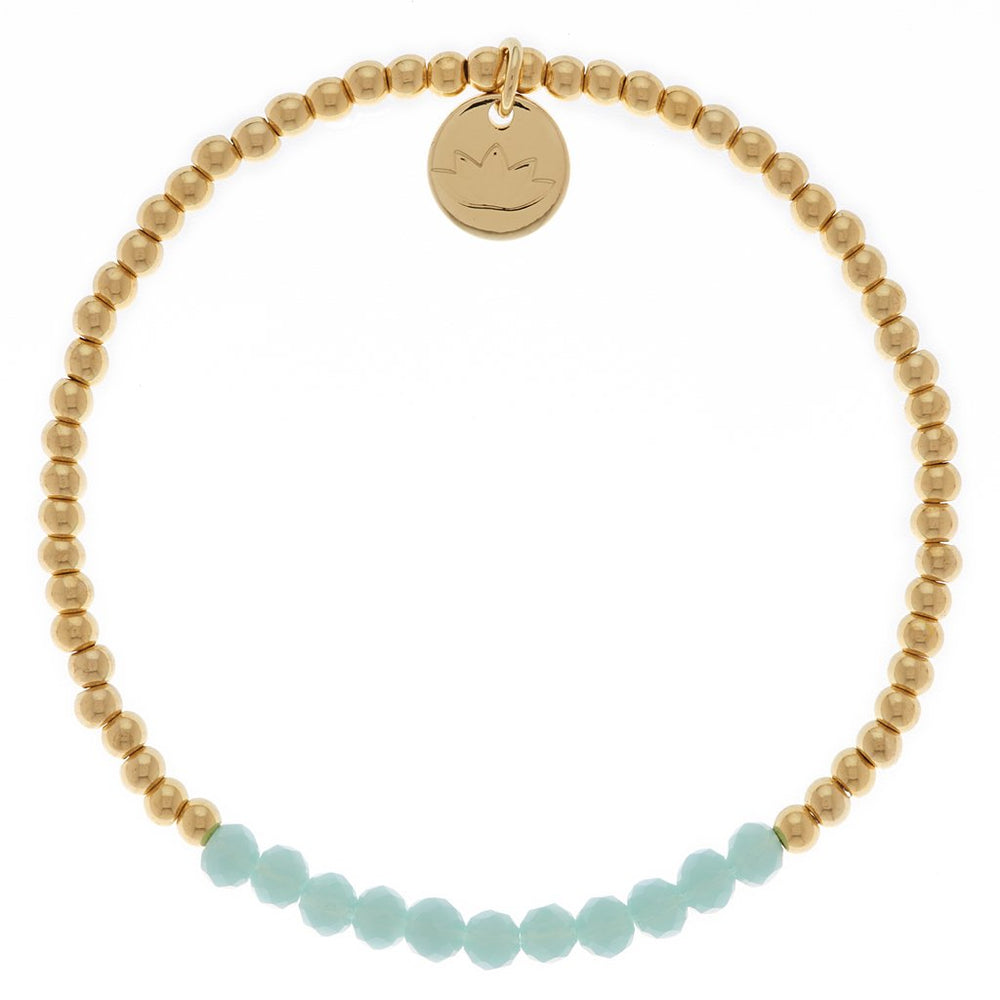 Mint Green Glass Bead Bracelet | Sand Dollar UK