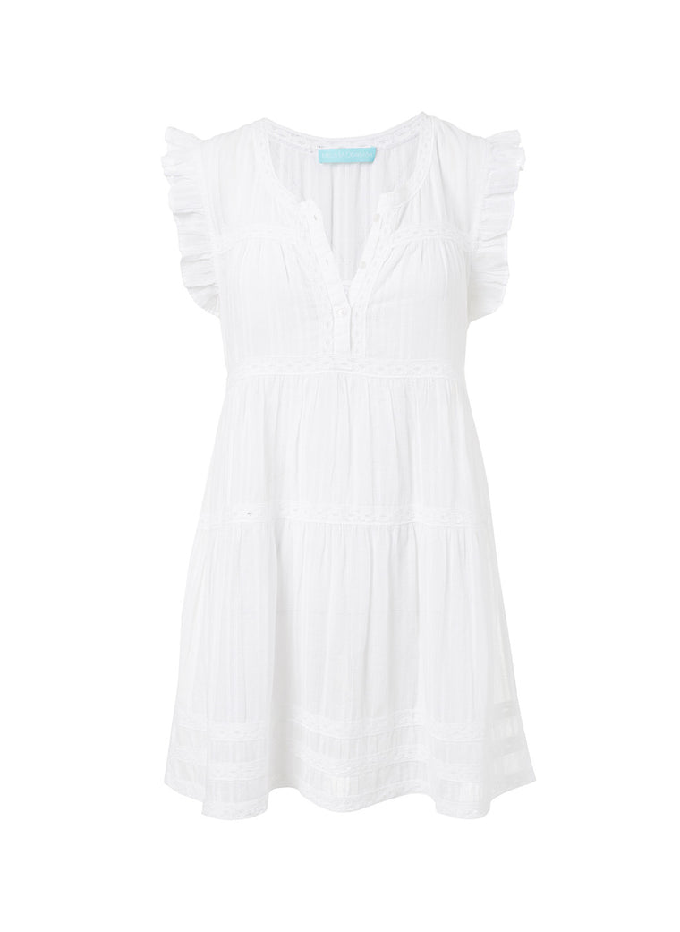 Melissa Odabash Rebekah Dress White