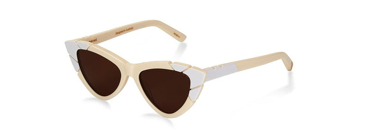 Pared Piccolo & Grande Ivory/Borwn Sunglasses