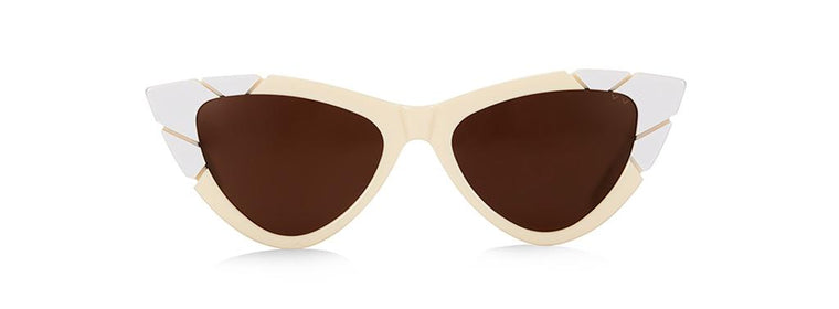 Pared Piccolo & Grande Ivory/Brown Sunglasses