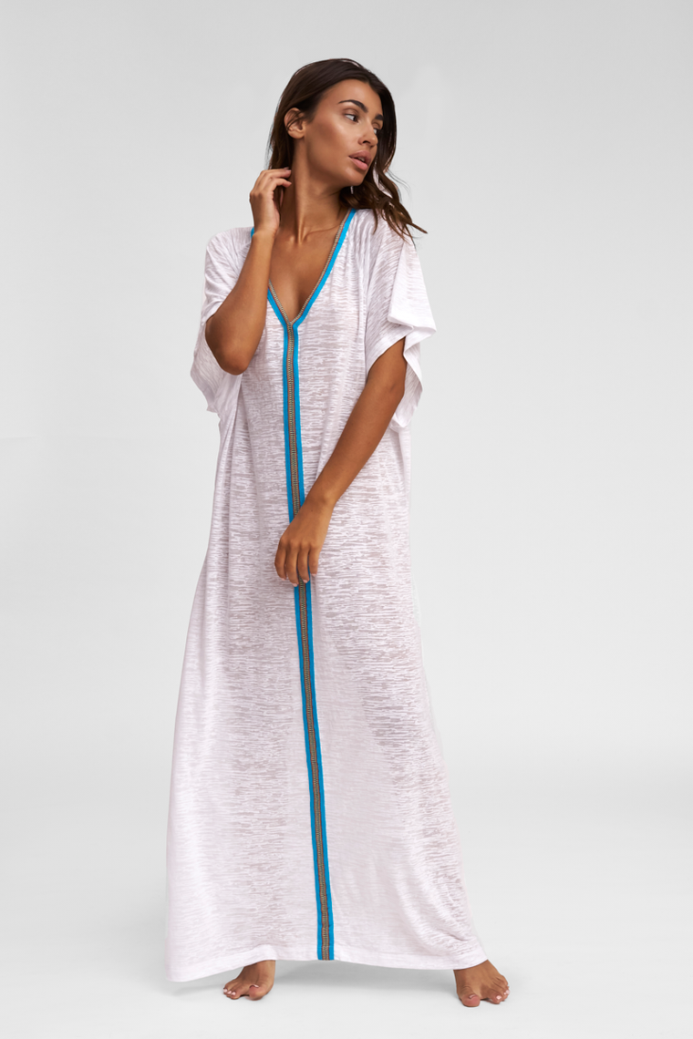 White Abaya Beach Dress