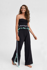 Bohemian Chic Summer Pants in Black | Womens Cotton Summer Pants