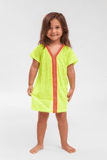 toddler wearing Girls Beach Cover Up in Yellow