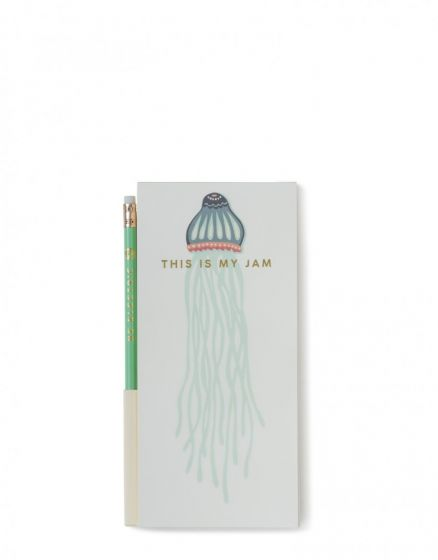 Spartina 449 Magnetic To Do List Pad with Jellyfish design