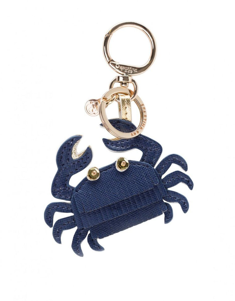 Spartina Bag Charm Navy Crab