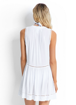 White Ladder Detail Dress