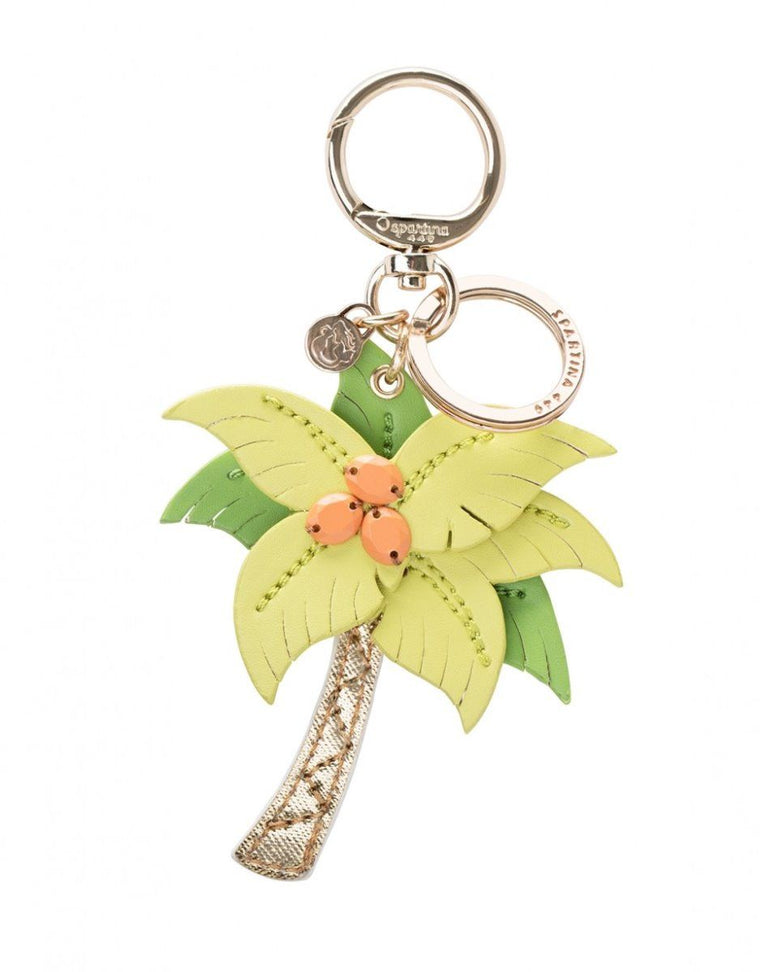 Spartina 449 Leather Bag Charm Palm Tree