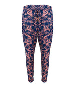 womens beach pants in blue & pink