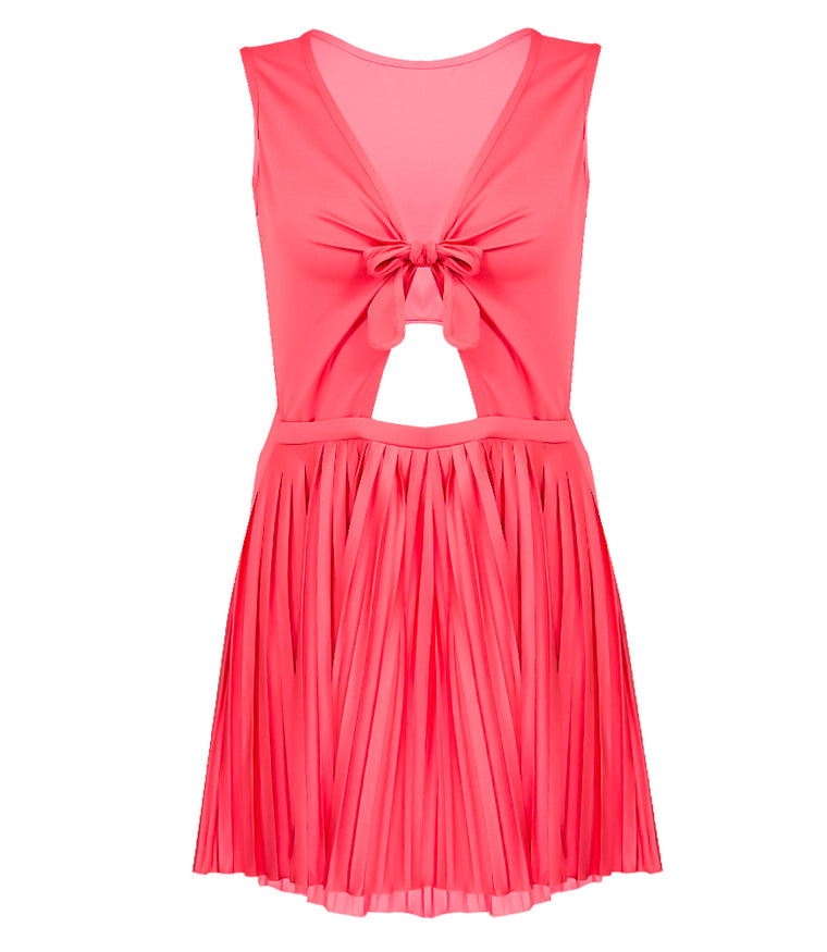 Sunseeker Pleated Sunrise Pleated Cut-Out Dress