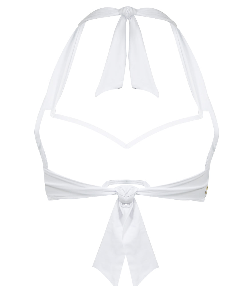 White Tie Front Bikini Top | Sand Dollar UK