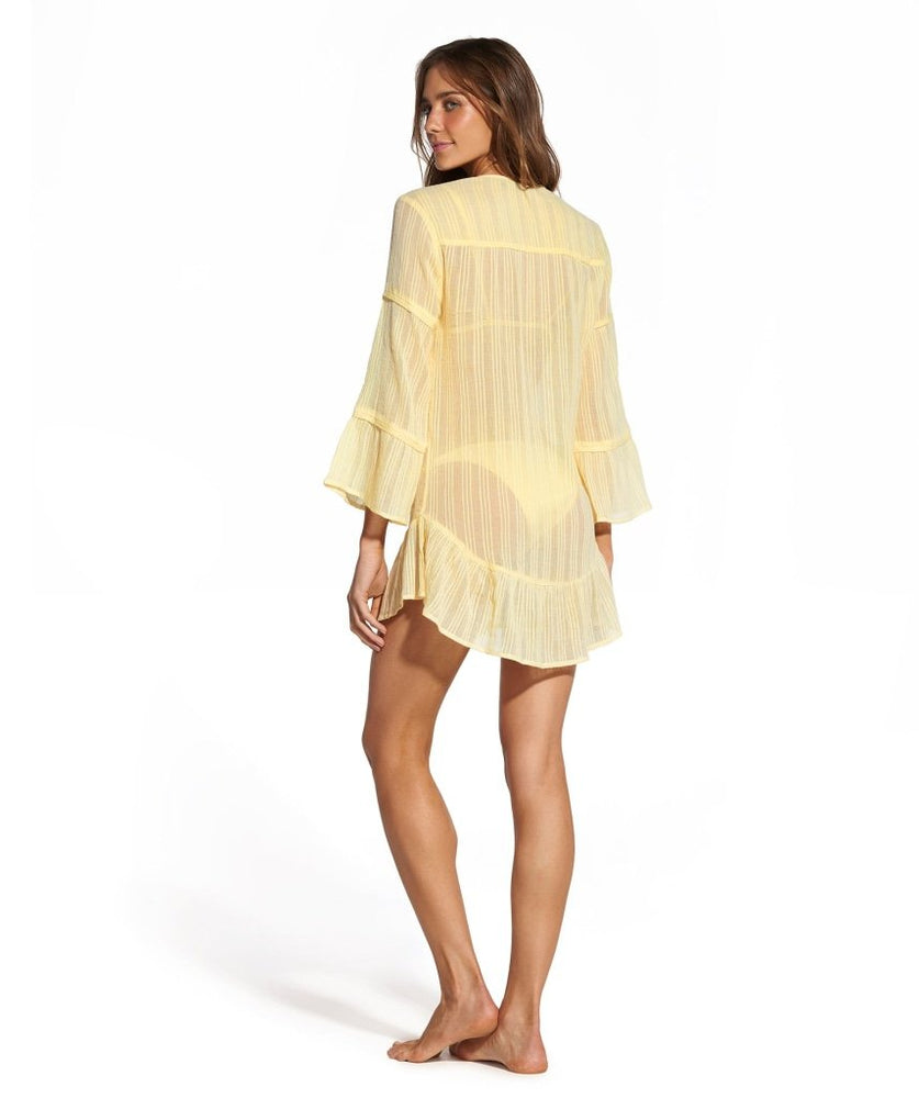 yellow tunic blouse
