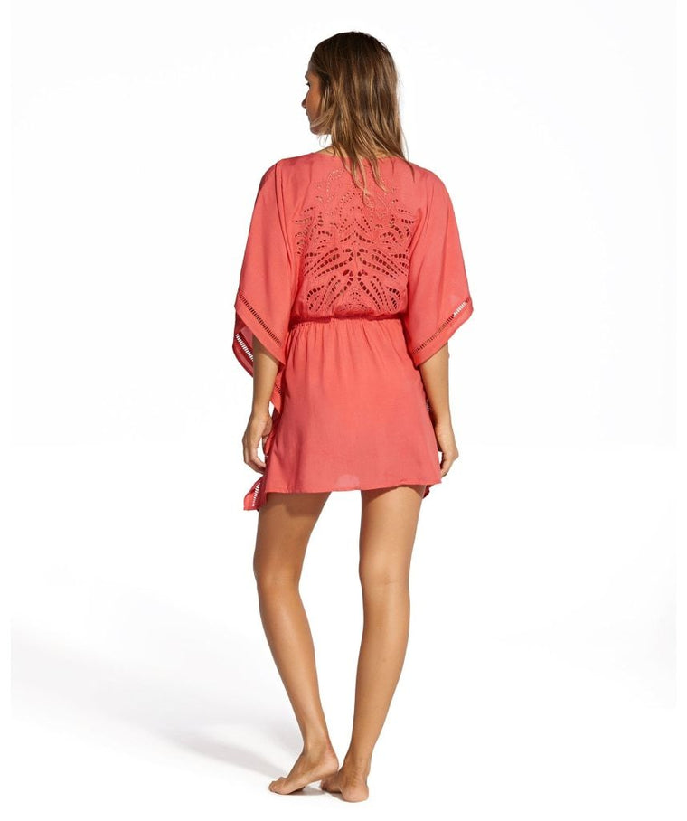 Watermelon Ebroidered Kaftan Kimomo