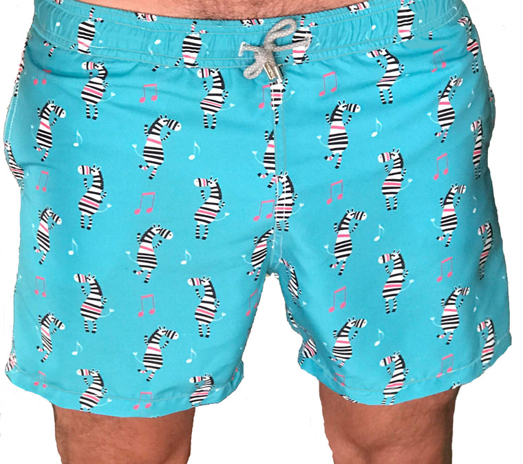 Yoli & Co Men's Zebra Swim Short