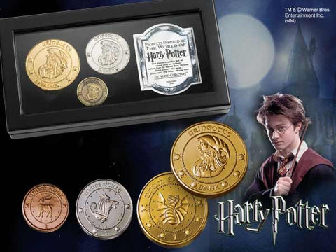 Gringotts Bank Replica Coin Collection Harry Potter