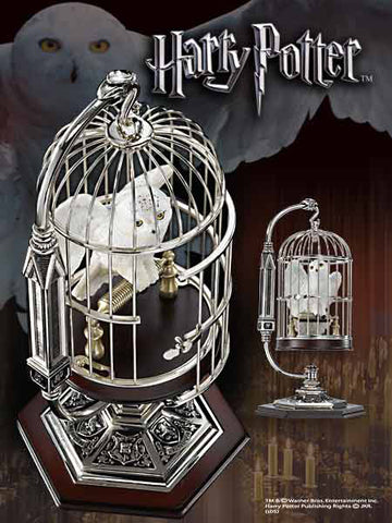 Miniature Hedwig and Cage Harry Potter