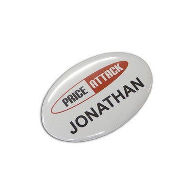 Button Badge Oval - 65mm x 45mm