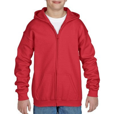 Gildan Heavy Blend Youth Full Zip Hooded Sweatshirt Colours