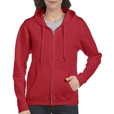 Gildan Heavy Blend Ladies Full Zip Hooded Sweatshirt Colours