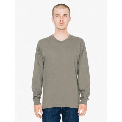 American Apparel Unisex Fine Jersey Long Sleeve Tee Colour