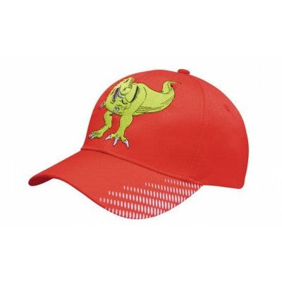 Breathable Poly Twill Cap w. Peak Flash Print