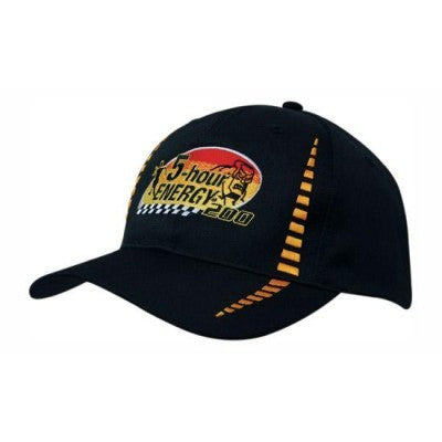 6 Panel Breathable Poly Twill Cap w. Embroidered Checks