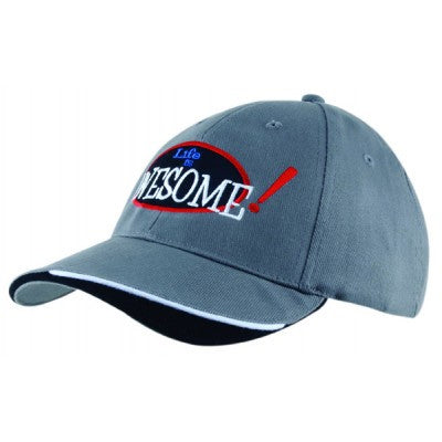 Heavy Brushed Cotton Cap w. Indented Peak