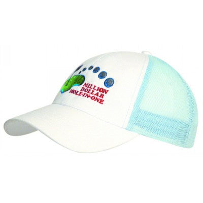 Brushed Heavy Cotton Cap w. Mesh Back
