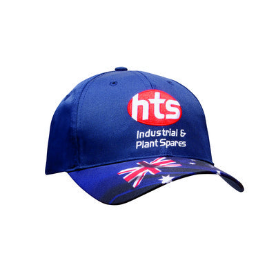 Poly Twill Aussie Flag Sublimation Print Cap