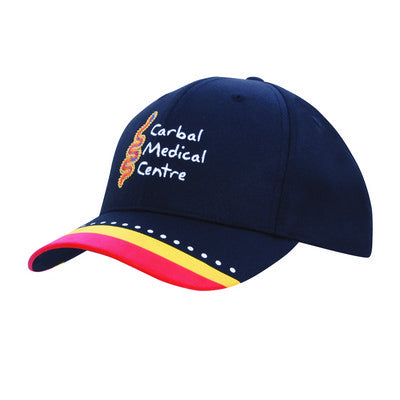 Poly Twill Cap w. Multi Coloured Print