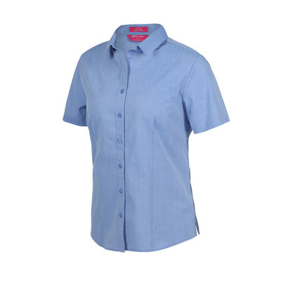 JBs Ladies Classic S/S Fine Chambray Shirt