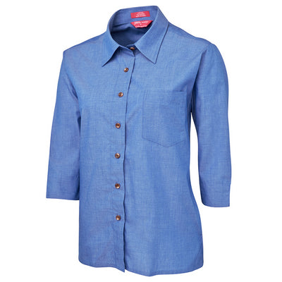 JbS Ladies Original 3/4 Indigo Chambray Shirt