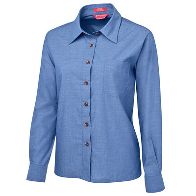 JbS Ladies Original L/S Indigo Chambray Shirt