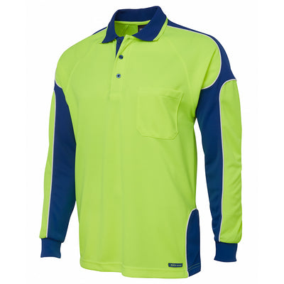 JBs Hi Vis L/S Arm Panel Polo