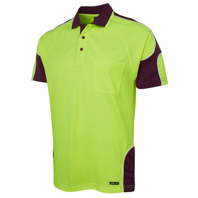 JBs Hi Vis S/S Arm Panel Polo