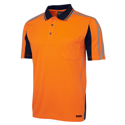 JBs Hi Vis S/S Arm Tape Polo