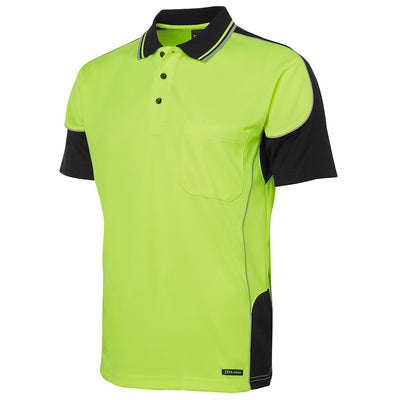 JBs Hi Vis Contrast Piping Polo