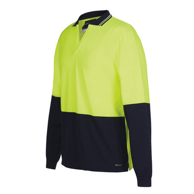 JBs Hi Vis L/S Non Button Polo