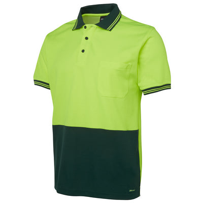 JBs Hi Vis S/S Cotton Back Polo
